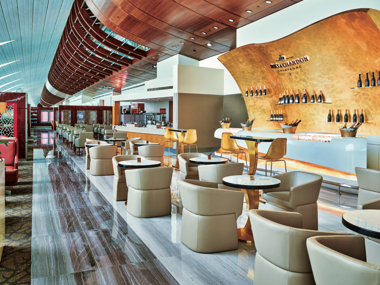 Airport lounges helping to make time fly