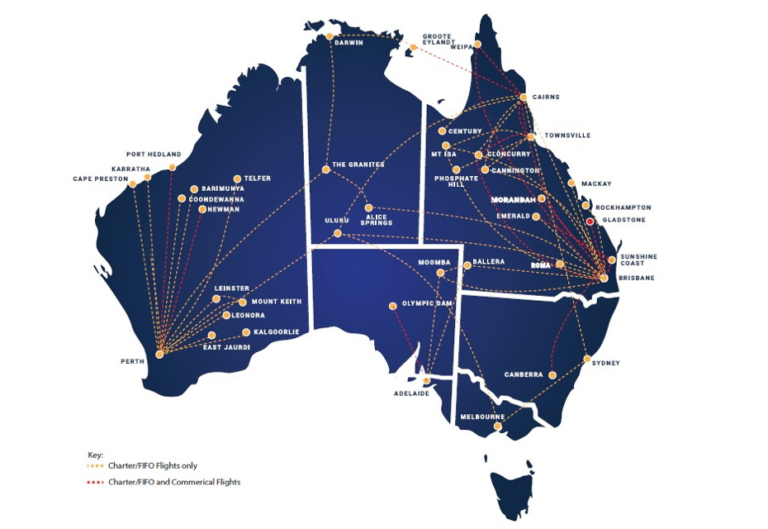 Alliance Airlines Route Map