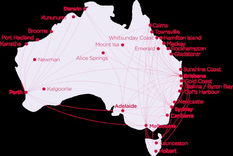Virgin Australia Route Map
